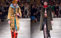 Prada show revels in femininity, crochet bras