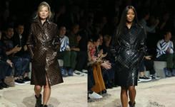 Kate Moss et Naomi Campbell sur le podium de Vuitton homme