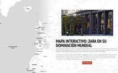 Mapa Interactivo: La dominación mundial de Zara por medio de sus establecimientos más importantes