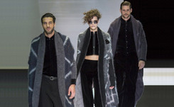Armani applies a velvet touch to suit revival at Milan Fashion Week