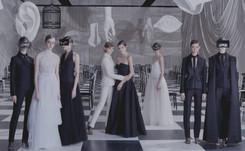 Haute couture: des noeuds à foison et du noir et blanc